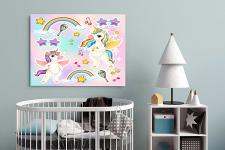 Tablou Canvas Copii - Unicorn Party1