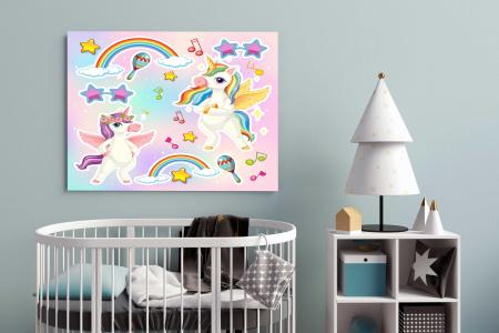 Tablou Canvas Copii - Unicorn Party [1]