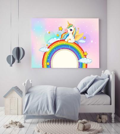 Tablou Canvas Copii - Unicorn [1]