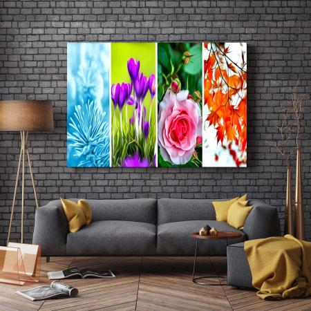 Tablou Canvas - Tapet Floral2