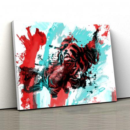 Tablou Canvas - Tiger Art [0]