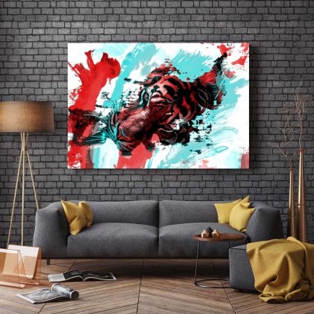 Tablou Canvas - Tiger Art [2]