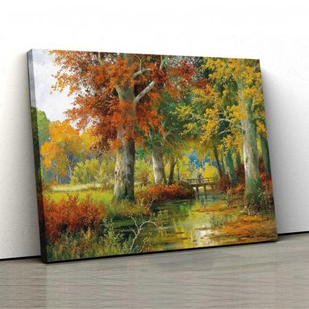 Tablou Canvas - Plimbare Toamna0