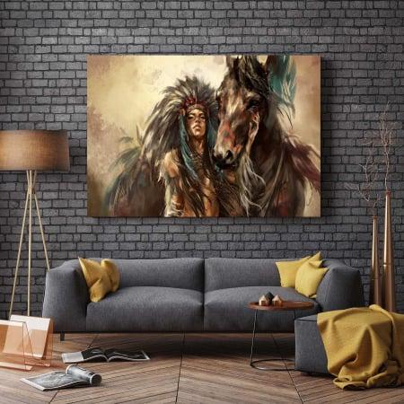 Tablou Canvas - Tribes Man2