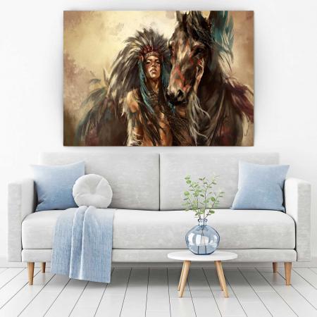 Tablou Canvas - Tribes Man1