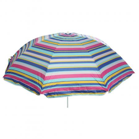 Umbrela soare pentru terasa rotunda structura metal multicolor Diametru 220 cm [0]
