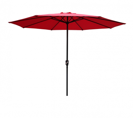 Umbrela soare pentru terasa RED rotunda structura metal rosu Diametru 300 cm0