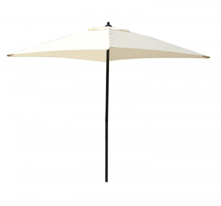 Umbrela soare pentru terasa ALBA patrata structura metal crem 200x200 cm [0]