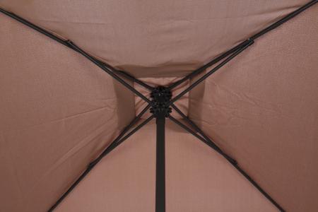 Umbrela Andra soare pentru terasa patrata structura metal maro 200x200 cm [1]