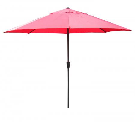 Umbrela soare pentru terasa RED rotunda structura metal rosu Diametru 300 cm1