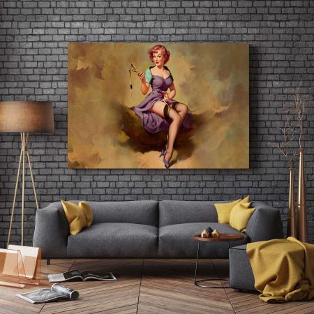 Tablou Canvas - Vintage Girl [2]