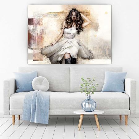 Tablou Canvas - White Dress1