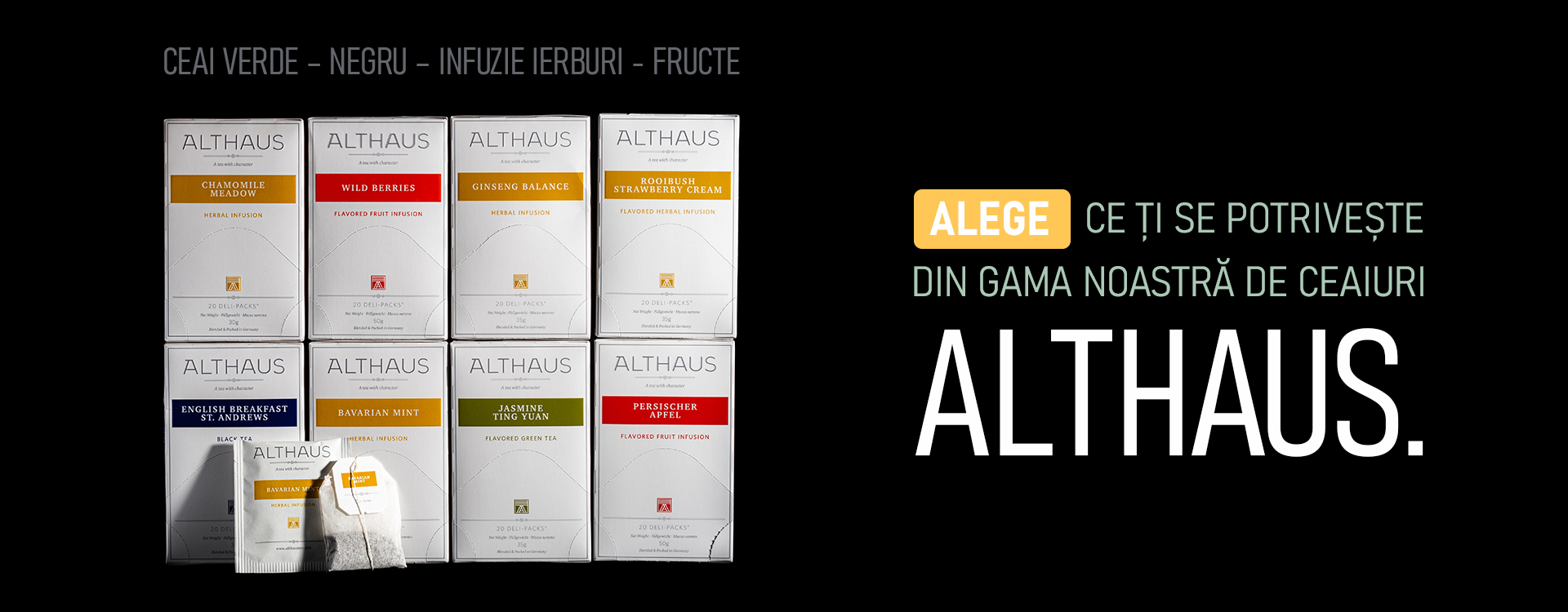Alege ceaiul Althaus care ti se potriveste