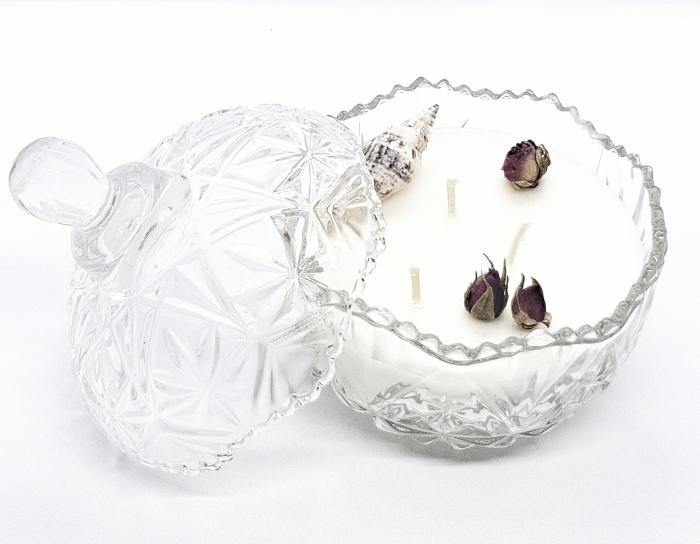 Lumanare parfumata tip bomboniera cu aroma de iasomie & ambra [0]