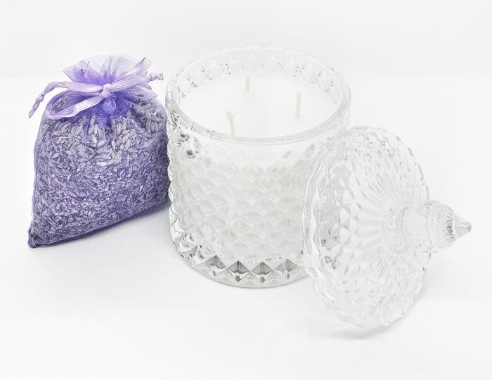 Lumanare parfumata tip bomboniera cu lavanda [2]