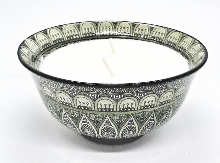 Lumanare in vas ceramic cu aroma de ambra & iasomie [0]