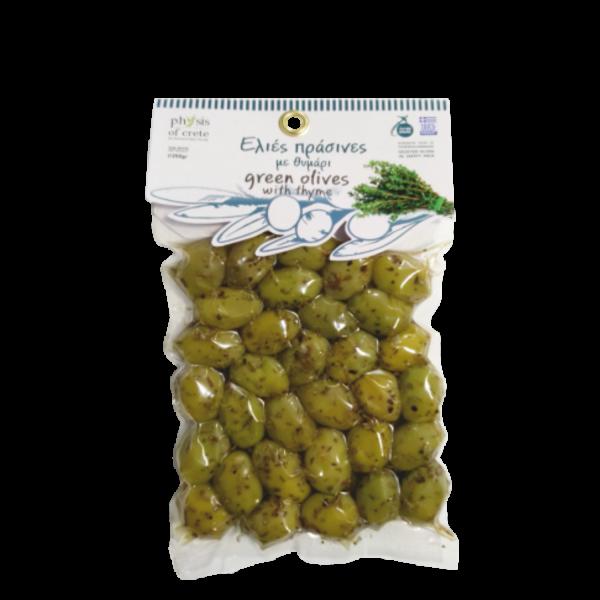Masline verzi marinate cu cimbru Physis of Crete [0]