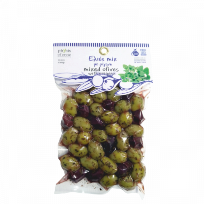 Masline verzi si kalamata marinate cu oregano Physis of Crete [0]