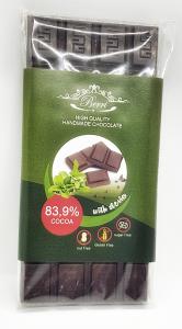 Ciocolata artizanala fara zahar cu stevia 83.9% cacao [0]