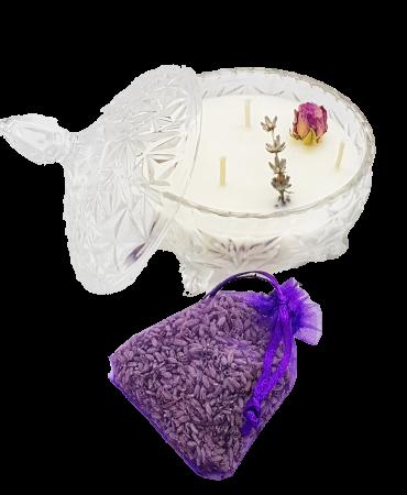 Lumanare parfumata tip bomboniera cu lavanda [0]