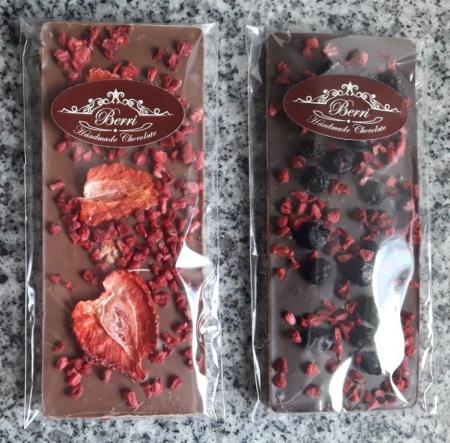 Mini-ciocolata artizanala neagra / cu lapte si fructe [2]