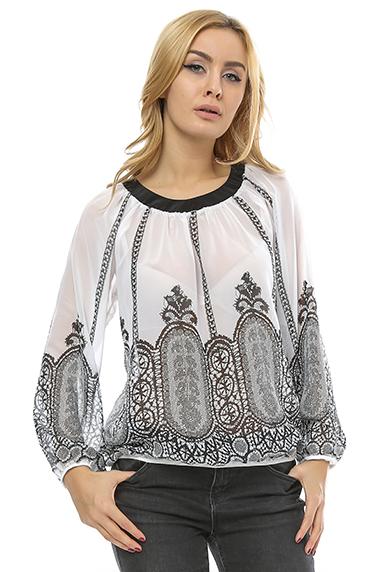 Bluza bufanta cu print digital B94 0