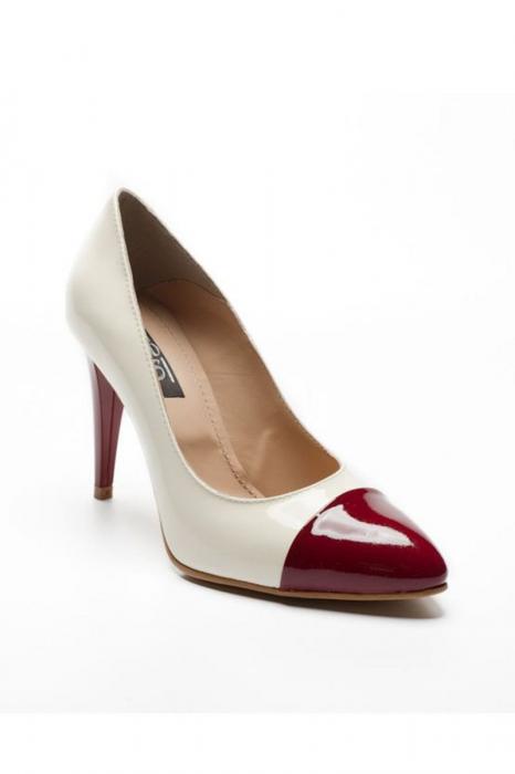 Pantofi dama din piele naturala Luana Marsala 0