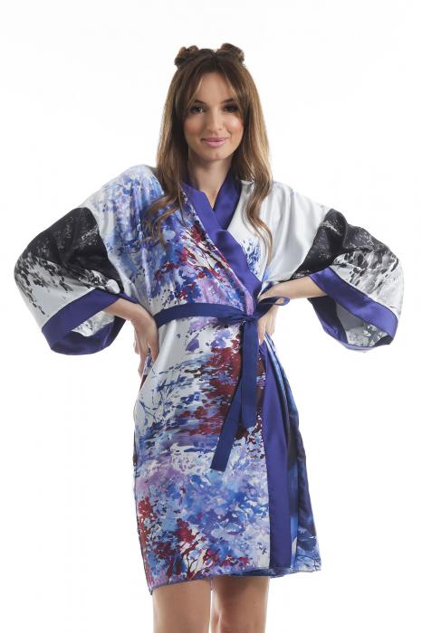 Kimono dama din vascoza cu imprimeu abstract [1]