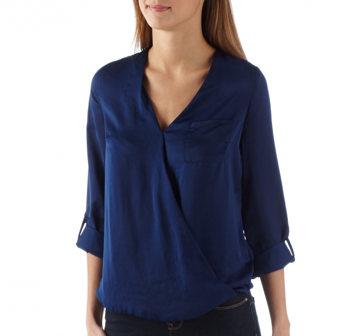 Bluza Camaieu V-neck petrecuta 0