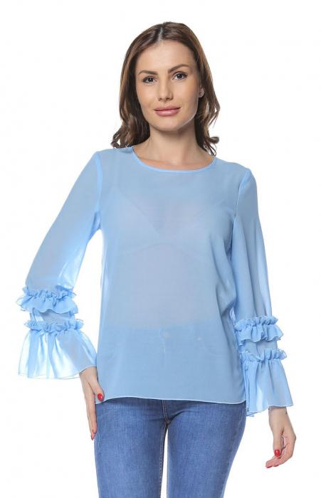 Bluza dama din vascoza Blue B124 0