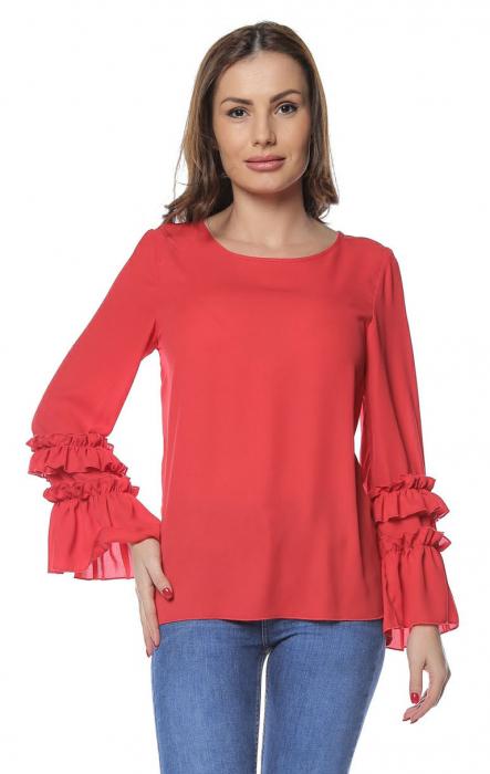 Bluza dama din vascoza Red B126 0