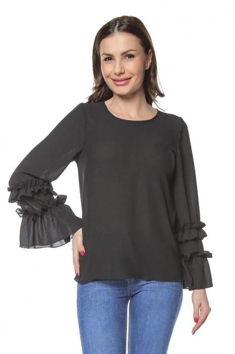 Bluza dama din vascoza Black B127 [0]