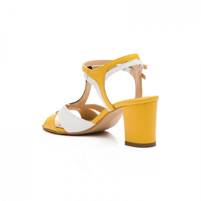 Sandale din piele naturala cu toc jos CA48 3