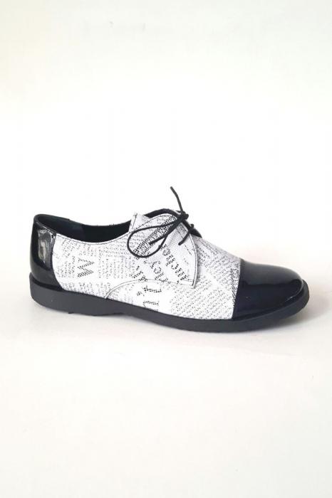 Pantofi din piele Oxford Pam Paper, 37
