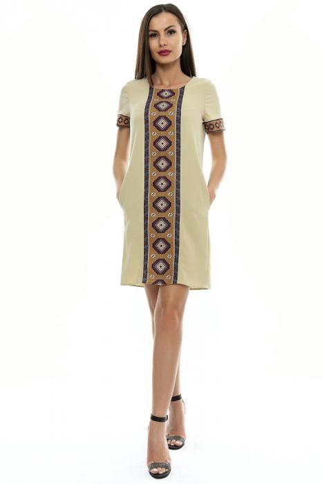Rochie dama cu insertie printata RO106 0