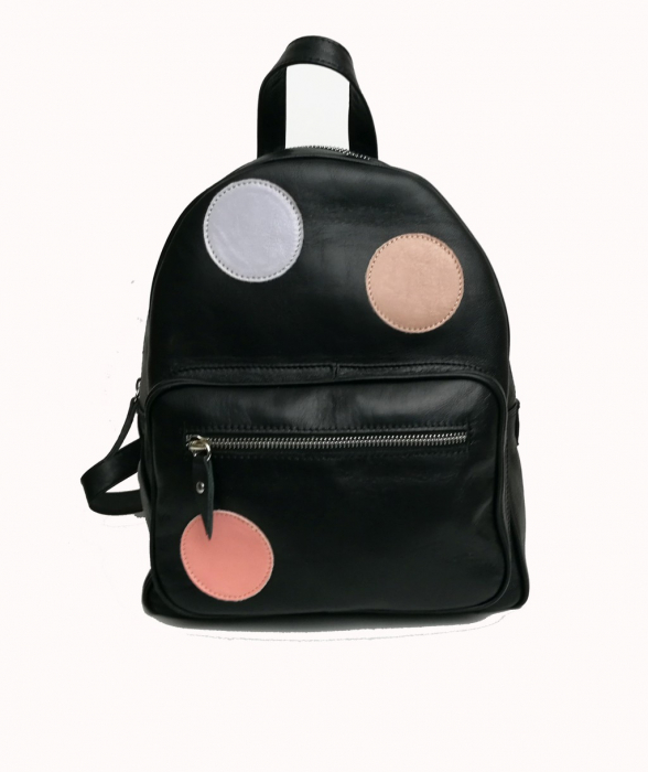 Geanta backpack din piele Black