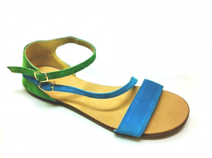 Sandale dama din piele Green and Blue Velvet Anna 0