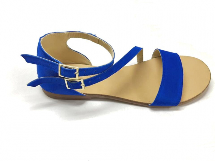 Sandale dama din piele Electric Blue Anna 0
