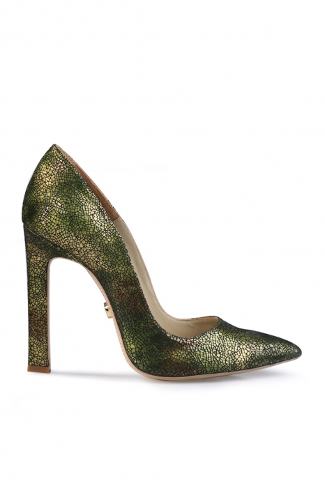 Pantofi Mihai Albu din piele texturata Green 0