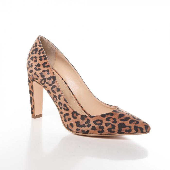Pantofi stiletto din piele naturala Animal Print [1]