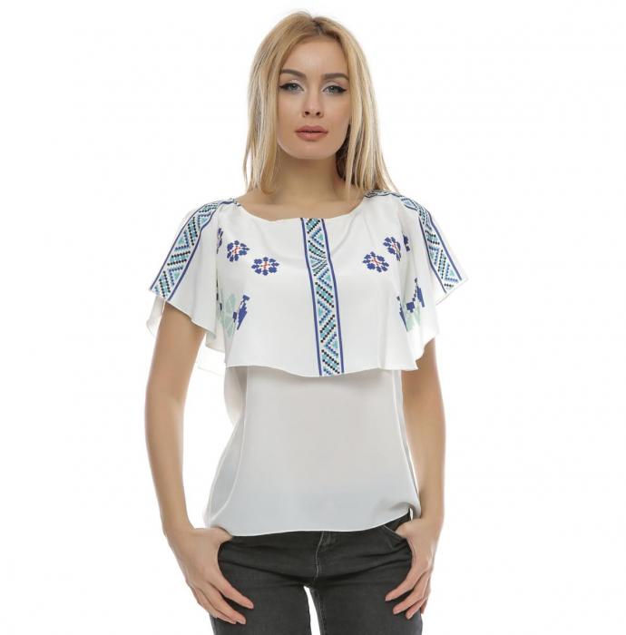 Bluza cu print digital motive traditionale B105 0