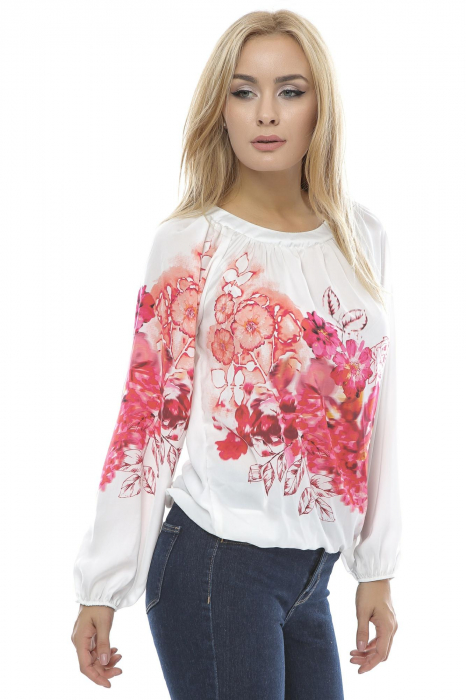 Bluza dama motive florale B91 0