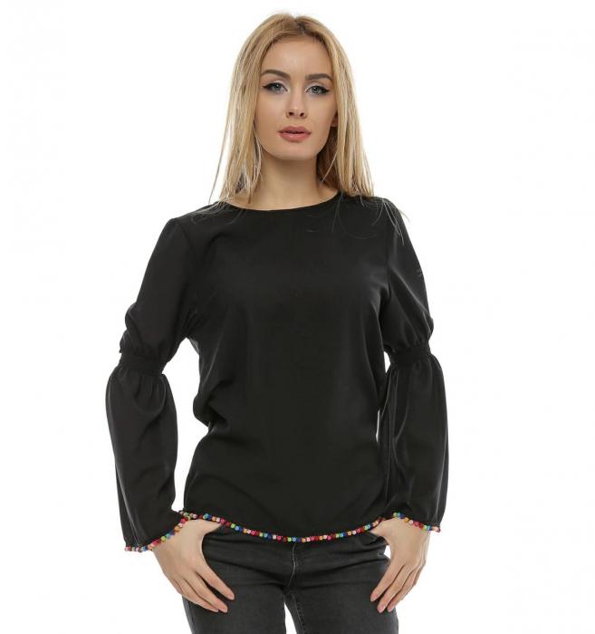 Bluza neagra cu maneci clopot B95 0