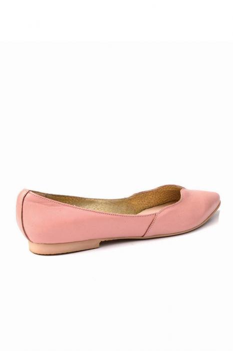 Balerini dama din piele Pale Pink 1