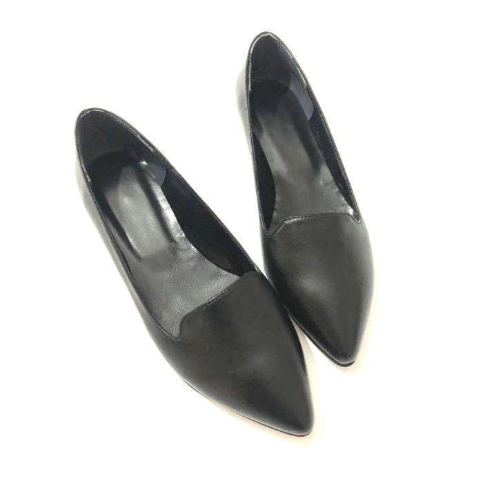 Loafers dama din piele naturala Black Merry 2