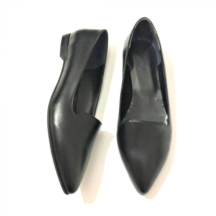 Loafers dama din piele naturala Black Merry 1