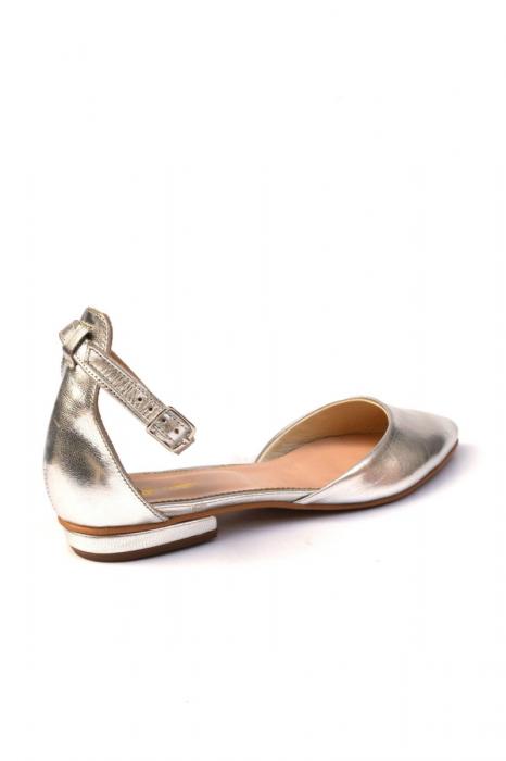 Balerini dama din piele Silver 1
