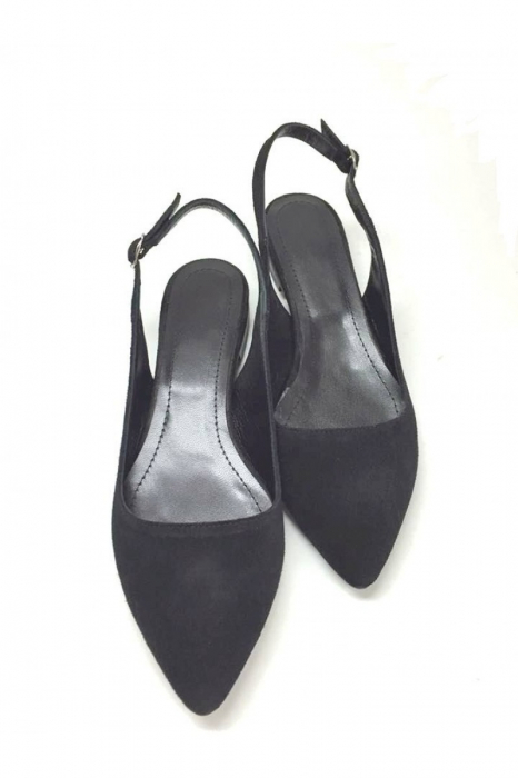 Balerini decupati din piele Black Velvet Lia, 41 1