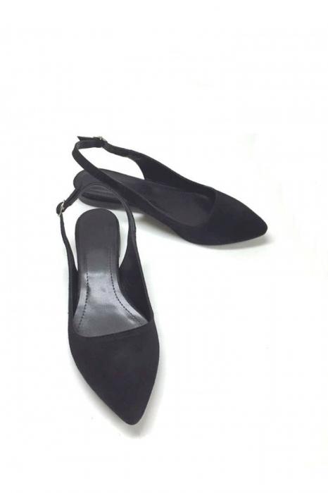 Balerini decupati din piele Black Velvet Lia, 41 2