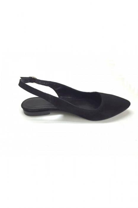 Balerini decupati din piele Black Velvet Lia [3]